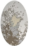 rug #773361 | oval white abstract rug