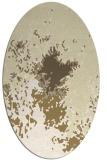 rug #773369 | oval yellow graphic rug
