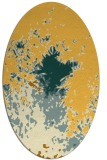 rug #773381 | oval yellow graphic rug