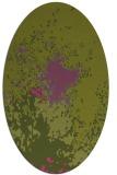 rug #773405   oval light-green abstract rug