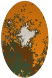 rug #773421 | oval light-orange rug