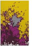 rug #773729 |  yellow abstract rug