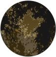 rug #773897 | round black graphic rug