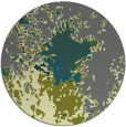 rug #773909 | round green abstract rug