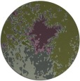 rug #773917 | round green abstract rug