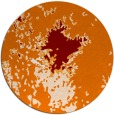 rug #773973 | round orange abstract rug