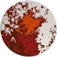 rug #774049 | round red-orange graphic rug