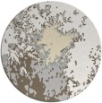 rug #774065 | round white abstract rug
