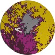 rug #774081 | round yellow graphic rug