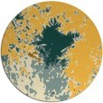 rug #774085 | round yellow graphic rug