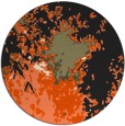 rug #774089 | round black abstract rug