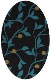 rug #776617 | oval black rug