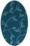 rug #776649   oval blue-green natural rug