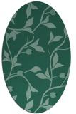 rug #776653   oval blue-green natural rug