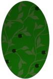 rug #776665   oval green rug