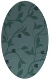 rug #776669 | oval blue-green natural rug