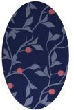 rug #776689 | oval blue-violet rug