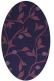 rug #776693   oval purple rug