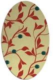 rug #776801 | oval yellow natural rug