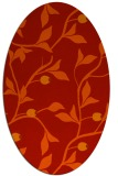 rug #776841 | oval orange natural rug