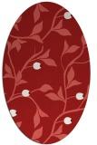 rug #776845 | oval red rug