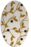 rug #776893 | oval brown rug