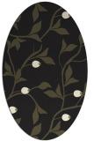 rug #776905 | oval black natural rug
