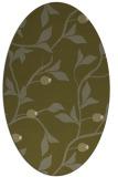 rug #776929   oval light-green rug