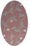 rug #776937   oval pink rug