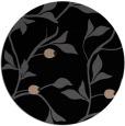 rug #777313 | round black natural rug