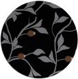 rug #777317 | round black natural rug