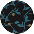rug #777321 | round black natural rug
