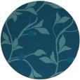 rug #777353 | round blue-green natural rug