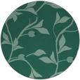rug #777357 | round blue-green natural rug