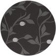 rug #777501 | round red-orange natural rug