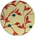 rug #777505   round yellow natural rug