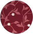 rug #777513 | round pink rug