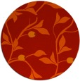 rug #777545 | round red natural rug
