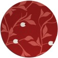 rug #777549 | round red rug