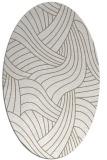 rug #781529 | oval beige abstract rug