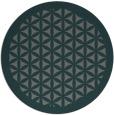 rug #781778 | round blue-green borders rug