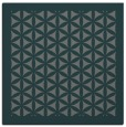 rug #781786 | square blue-green borders rug
