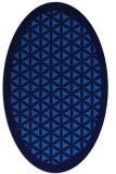 rug #782100 | oval blue rug