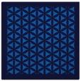 rug #782116 | square blue borders rug