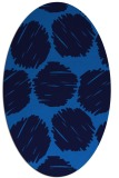 rug #782145 | oval blue retro rug