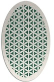 rug #782595 | oval green traditional rug