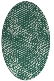 rug #782615 | oval green popular rug