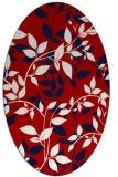 rug #782700   oval red natural rug