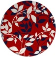 rug #782708 | round red natural rug