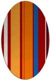 rug #782720 | oval red stripes rug